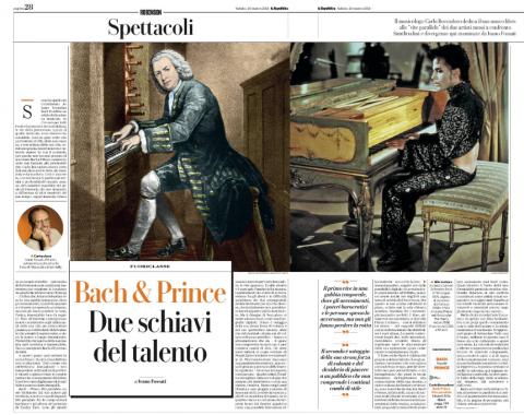 Ivano Fossati su Bach e Prince di Carlo Boccadoro